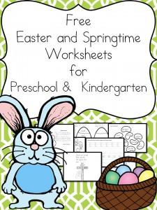 free easter and springtime worksheets for prek k free homeschool deals. Black Bedroom Furniture Sets. Home Design Ideas