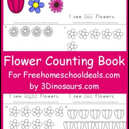 FREE SPRING FLOWER COUNTING BOOK (Instant Download)
