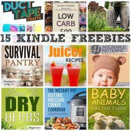 15 KINDLE FREEBIES: Electric Pressure Cooker Cookbook, Backyard Gardening + More!