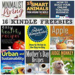 16 KINDLE FREEBIES: The Confident Homeschooler, Easy Healthy Recipes + More!