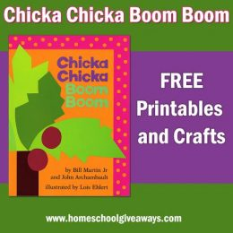 FREE Chicka Chicka Boom Boom Printables and Crafts