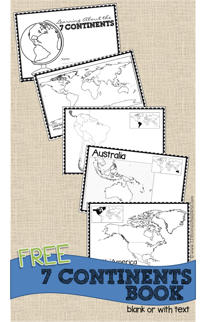 7 continents worksheet 1st grade