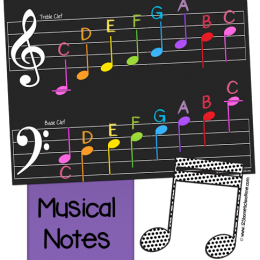 FREE Music Notes Pack