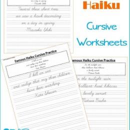 FREE Famous Haiku Cursive Writing Pages