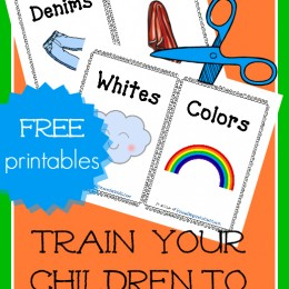 FREE Train Your Child to Sort Laundry Printables
