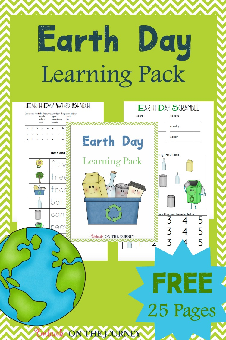 FREE Earth Day Printables Pack | Free Homeschool Deals ©