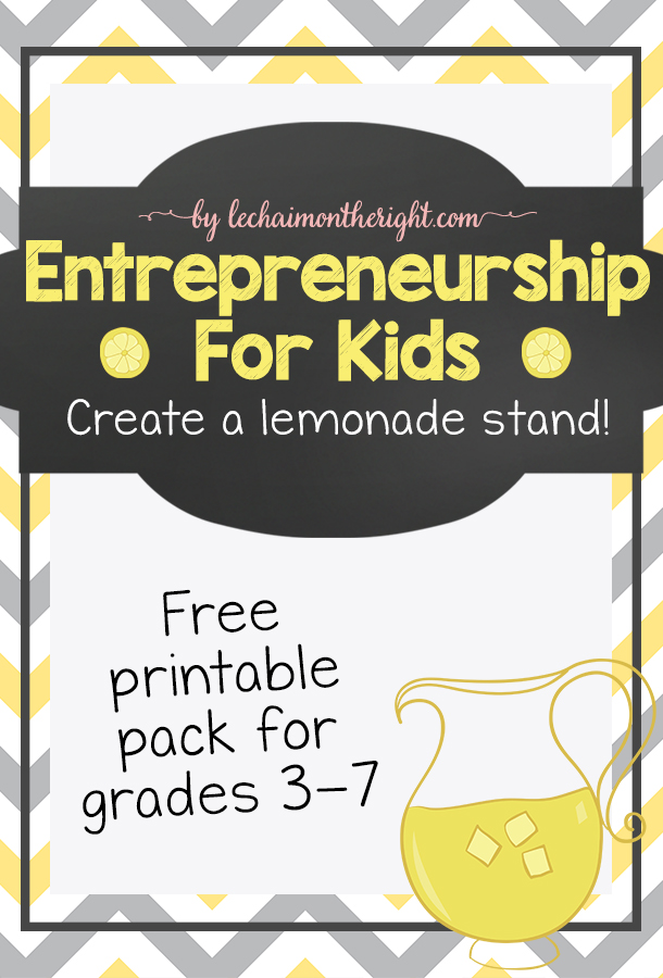 free lemonade stand printables pack