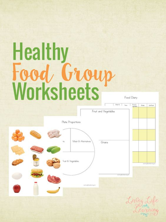 FREE Healthy Food Groups Worksheets