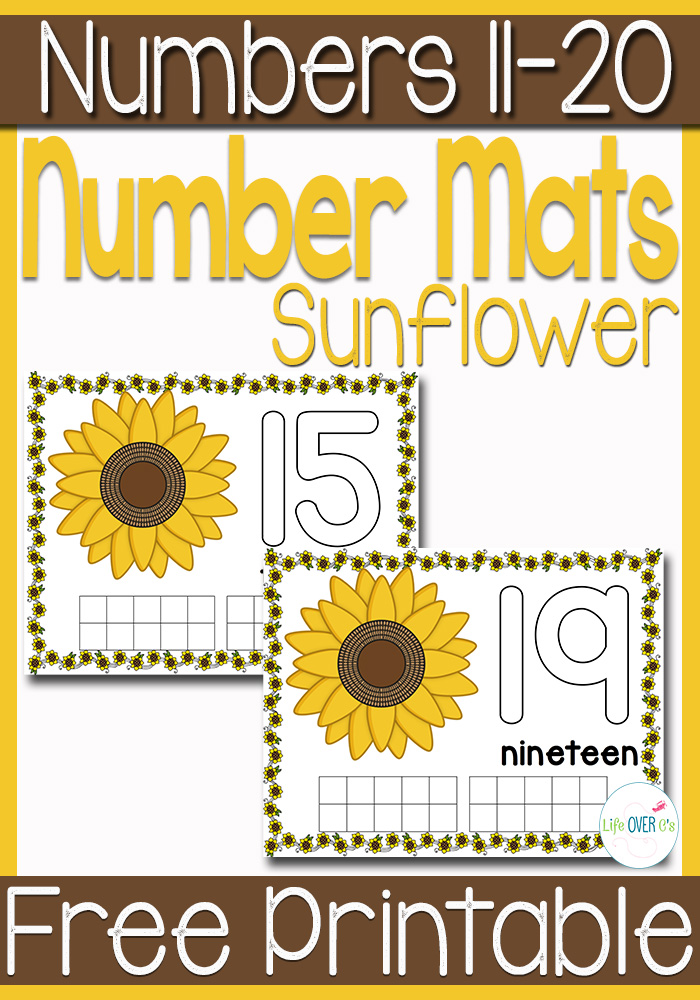 Free Sunflower Themed Mats Free Homeschool Deals