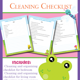 FREE Cleaning Checklists for Kids