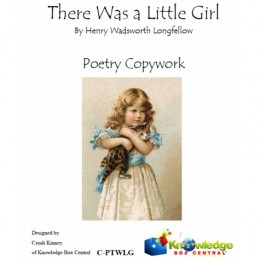 FREE Poetry Copywork: There Was a Little Girl
