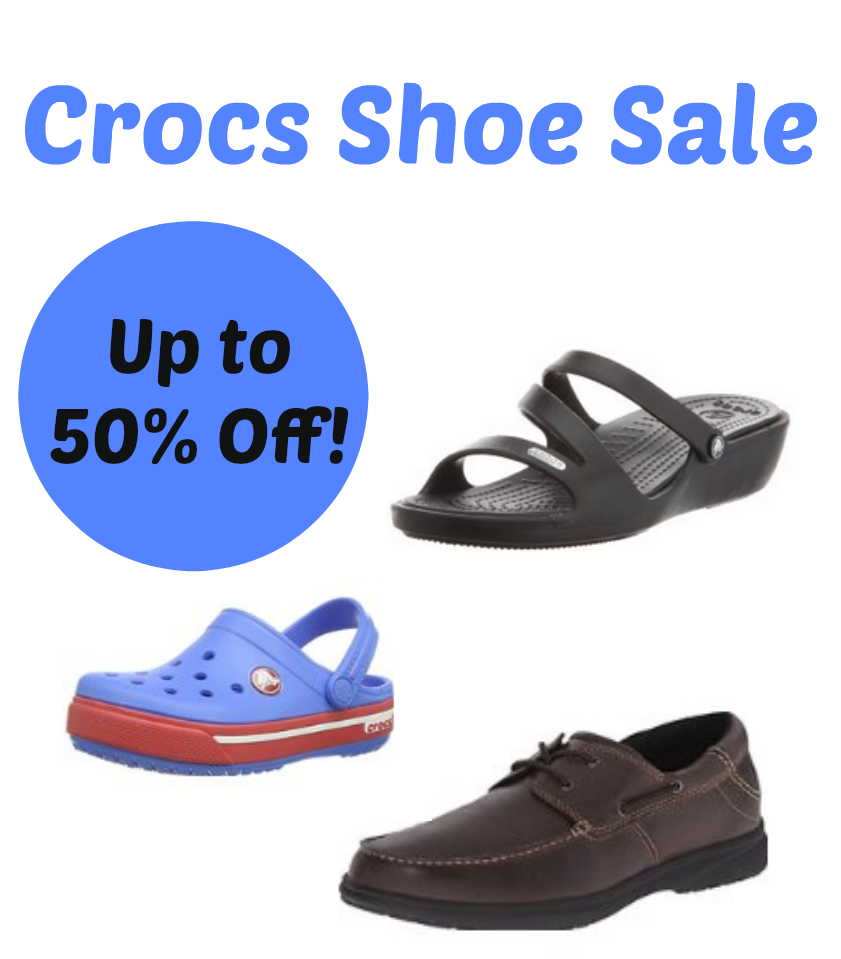 crocs shoe sale up to 50 today only free