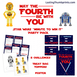 Free Star Wars Minute to Win It Party Pack