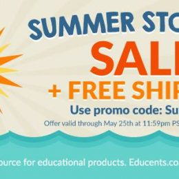 Summer Stock Up Sale at Educents + Free Shipping!