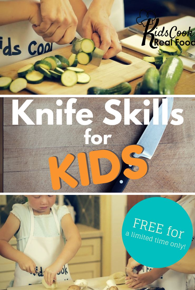 Free Knife Skills Lessons for Kids