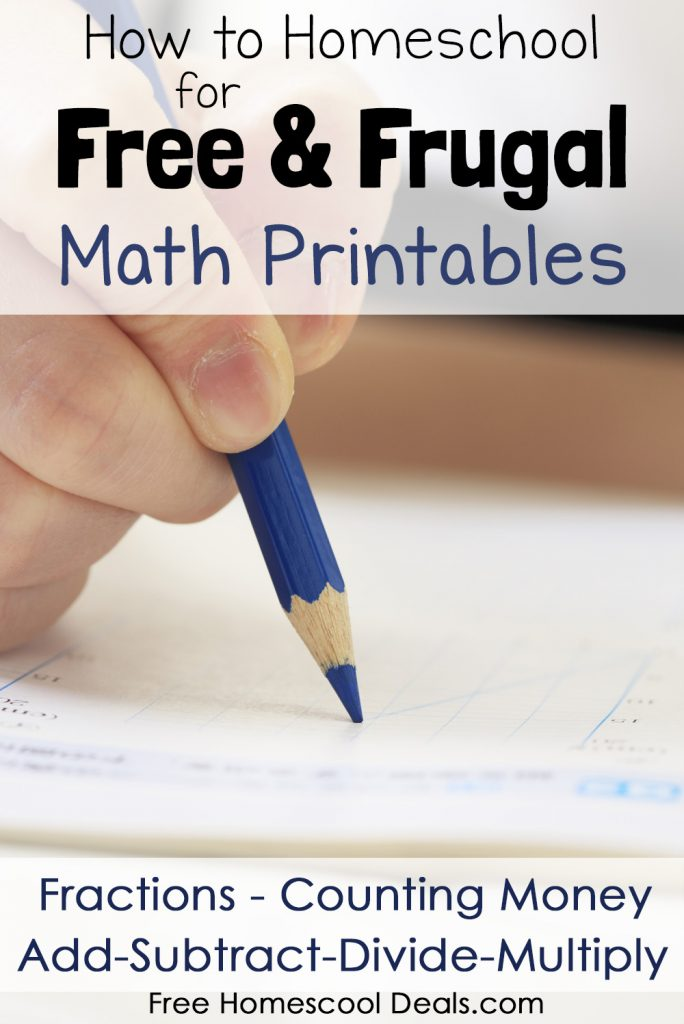 How to Homeschool Free and Frugal Math Printables