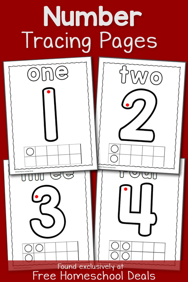 Number Tracing Pages