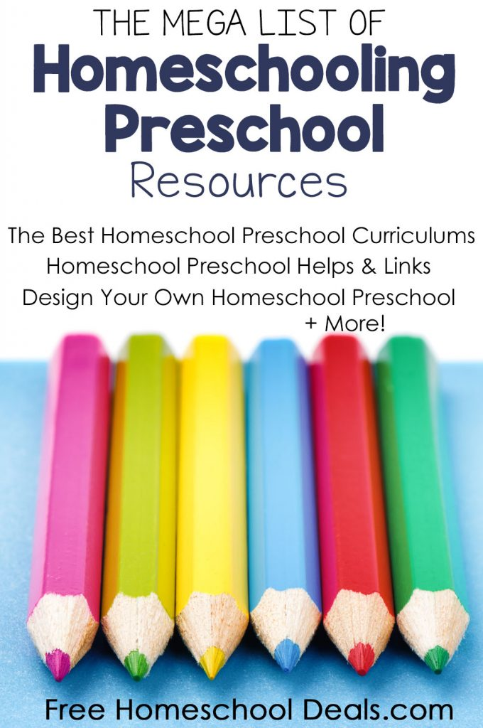 The MEGA List of Homeschooling Preschool Resources!