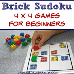 Free LEGO Sudoku Printables