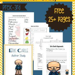 FREE Eric Carle Author Study