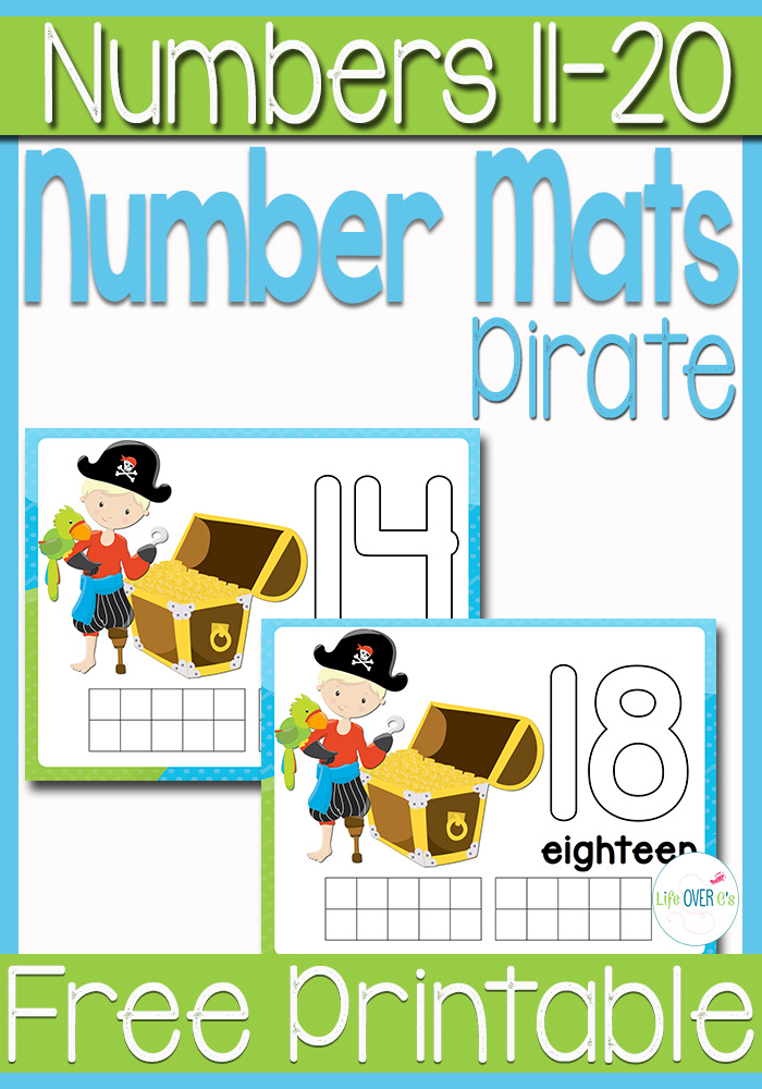 Free Pirate Printable Play Dough Number Mats S 11 20