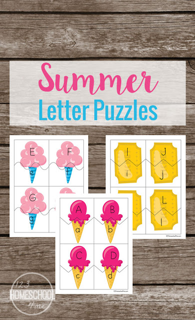 Free Summer Letter Puzzles Free Homeschool Deals