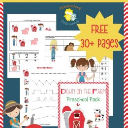 FREE PreK Down on the Farm Pack