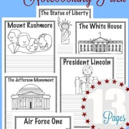 FREE National Monuments Notebooking Pack
