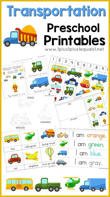 FREE Preschool Transportation Printables | Free Homeschool ...