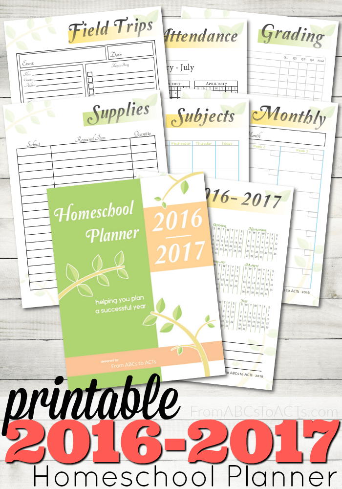 FREE Homeschool Planner for 2016-17 | Free Homeschool Deals