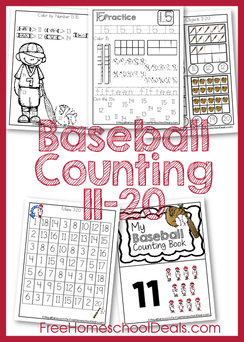 FREE Baseball Counting Pack