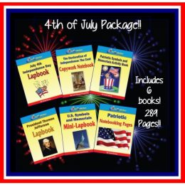4th of July Lapbook & Activity Package Only $8.99! ($30 Value!)
