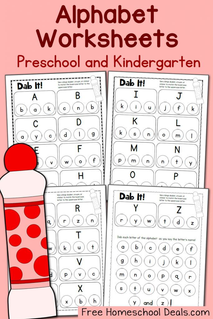FREE ALPHABET DOT PAGES PACK Instant Download – Free Alphabet Worksheets