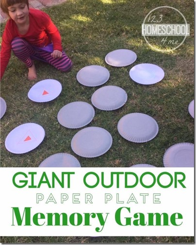 Giant Outdoor Paper Plate Memory Game