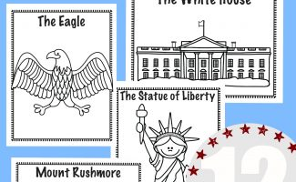 National Symbols Coloring Book