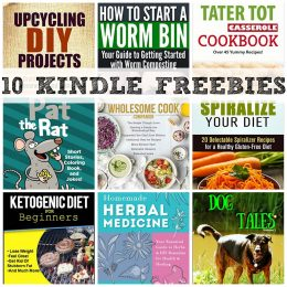 10 KINDLE FREEBIES: Upcycling DIY Projects, The Tater Tot Casserole Cookbook + More!