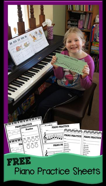 Free Piano Practice Printables Chart Free Homeschool Deals