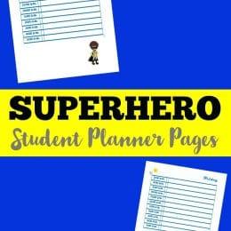 FREE Superhero Student Planner