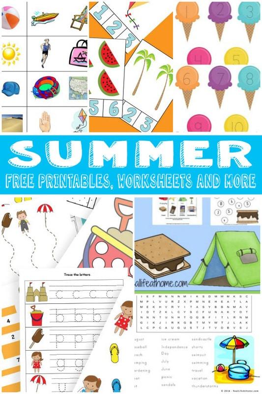 Summer Themed Worksheets: FREE Summer Themed Worksheets