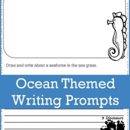 FREE Ocean Themed Writing Prompts