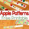 FREE Apple Pattern Printables