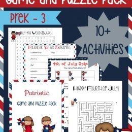 FREE Patriotic Puzzle Pack for PreK-3
