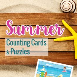 FREE Summer Counting Cards and Puzzles