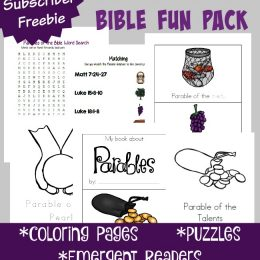 FREE Bible Parables Fun Pack