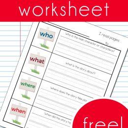 FREE Reading Comprehension Worksheet