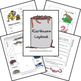 FREE Earth Worms Lapbook and Unit Study