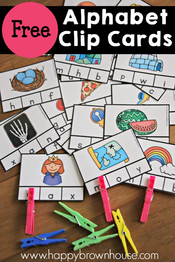 FREE Beginning Sounds Clip Cards : Free Homeschool Deals