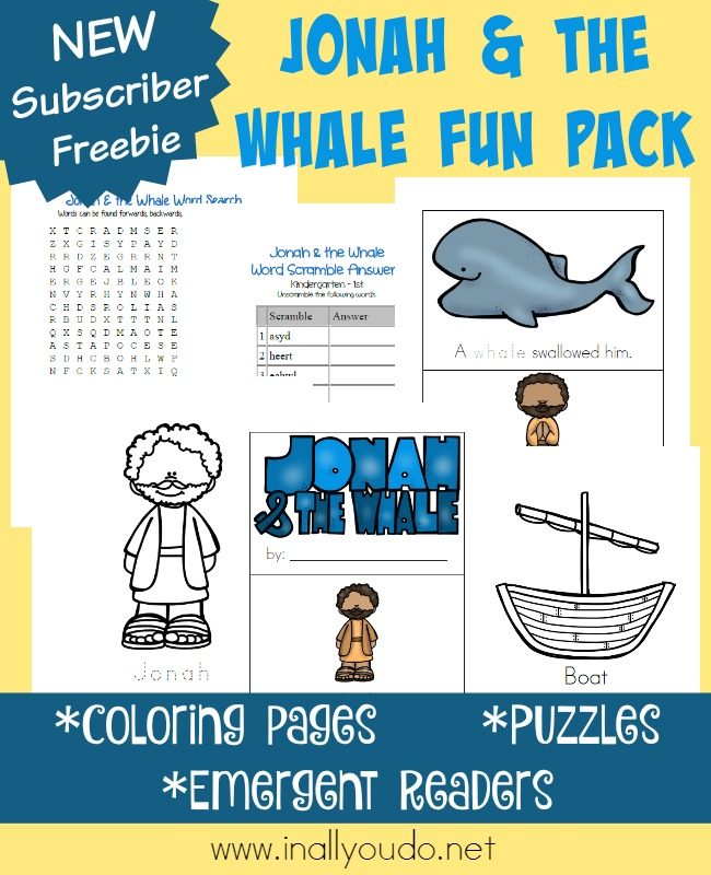 FREE Jonah and the Whale Fun Pack Free Homeschool Deals