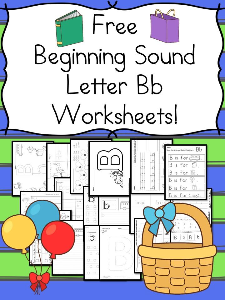 free beginning sounds letter b worksheets free homeschool deals. Black Bedroom Furniture Sets. Home Design Ideas