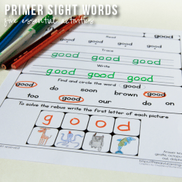 FREE Sight Word Pack for Kids